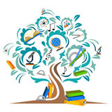 Study the tree. Vector illustration Stock Photo