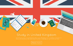 Study in United Kingdom concept for your web. Royalty Free Stock Image