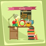Study, vector illustration Royalty Free Stock Images
