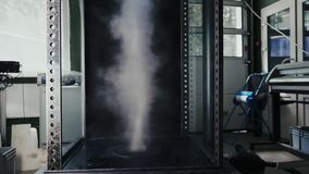 Study of weather conditions using aerodynamic tube