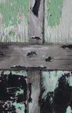 Study of wooden door with peeling paint Stock Photo