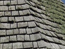 A study of a wooden slated roof Royalty Free Stock Photography