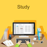 Study or working concept illustration. Royalty Free Stock Photos