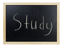 Study writing on blackboard Royalty Free Stock Images