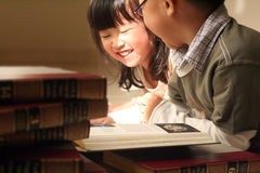 Studying. Asian kids in school day stock image