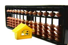 Studying with Abacus at Home Stock Photos