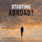 Studying Abroad?. Text on the sky royalty free stock photography