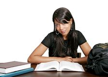 Studying African American girl Royalty Free Stock Photography