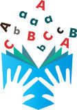Studying alphabets Stock Images
