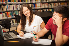 Free Studying And Flirting At School Royalty Free Stock Photo - 53808665