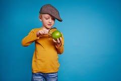 Studying apple Stock Image