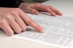 Studying The Bible royalty free stock images