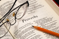 Studying the Bible Royalty Free Stock Photo