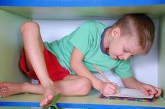 Studying boy Stock Photo