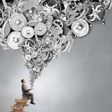 Studying business mechanisms Stock Photo