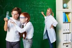 Studying chemistry Stock Photos