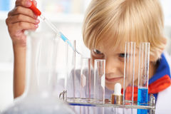 Studying chemistry Stock Photography