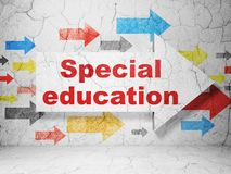 Studying concept: arrow with Special Education on grunge wall background Stock Images