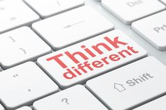 Studying concept: Think Different on computer keyboard background Royalty Free Stock Image