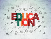 Studying concept: Education on Digital Paper Royalty Free Stock Image
