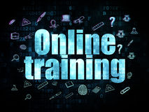 Studying concept: Online Training on Digital Royalty Free Stock Image