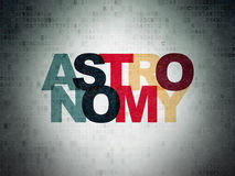 Studying concept: Astronomy on Digital Data Paper background Stock Photos