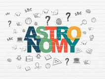 Studying concept: Astronomy on wall background Stock Image