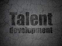 Studying concept: Talent Development on grunge wall background Royalty Free Stock Image