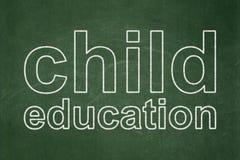 Studying concept: Child Education on chalkboard background. Studying concept: text Child Education on Green chalkboard background Royalty Free Stock Image