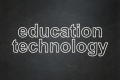 Studying concept: Education Technology on chalkboard background. Studying concept: text Education Technology on Black chalkboard background Royalty Free Stock Photo