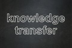 Studying concept: Knowledge Transfer on chalkboard background. Studying concept: text Knowledge Transfer on Black chalkboard background Royalty Free Stock Image