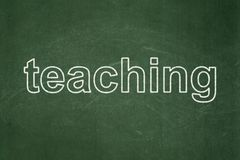 Studying concept: Teaching on chalkboard background. Studying concept: text Teaching on Green chalkboard background Royalty Free Stock Photo