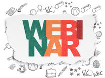 Studying concept: Webinar on Torn Paper background Royalty Free Stock Photo