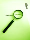 Studying conditions of a contract Royalty Free Stock Image