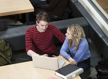 Studying couple stock photos