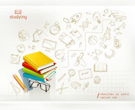 Studying and education infographics vector Stock Photos