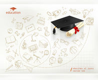 Studying and education, infographics vector. Background Royalty Free Stock Photography