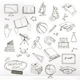 Studying and education sketches Stock Photography