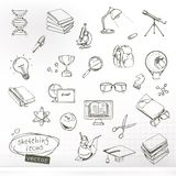 Studying and education sketches Royalty Free Stock Photography