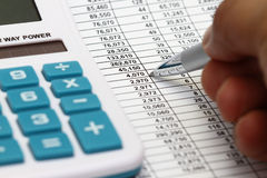 Studying Financial Numbers Royalty Free Stock Images