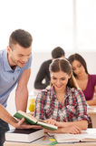 Studying in friendly atmosphere. Stock Images