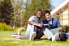 Studying friends Royalty Free Stock Image