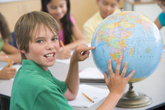 Studying Geography Royalty Free Stock Image