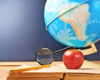 Studying geography composition Stock Photo