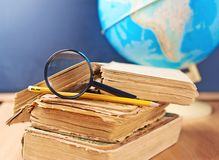 Studying geography composition Stock Image