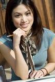 Studying girl Royalty Free Stock Photo