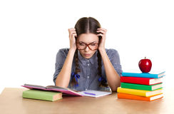 Studying  girl Stock Images