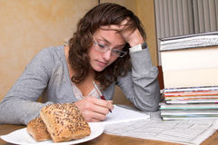 Studying hard Stock Images