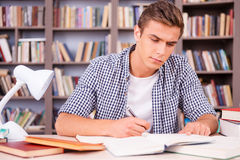 Studying Hard For Good Grades. Royalty Free Stock Photography