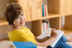Studying at home Royalty Free Stock Photo